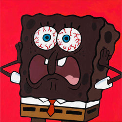 Vakseen Art - Patrick, What Am I?! - Spongebob Squarepants -FOBP -Original 12x12 in Acrylic Painting