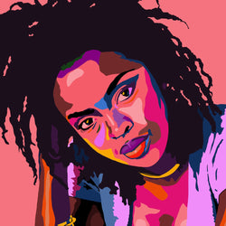 Vakseen Art - That Thing - Lauryn Hill portrait art - Limited Edition Giclee Print & Wall Decor