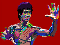Bruce Lee Portrait Art - Limited Edition Giclee Art Print & Wall Decor - Vakseen Art