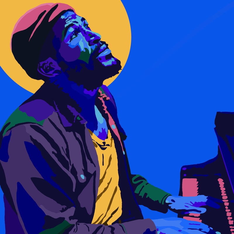 Marvin Gaye portrait art - Limited Edition Hand-Embellished Canvas Art Giclee - Vakseen Art