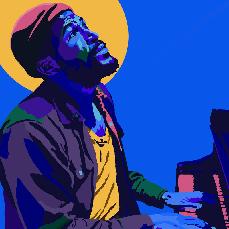 Vakseen Art - What's Goin On (Halo) - Marvin Gaye portrait art - Limited Edition Giclee Art Print