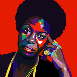 Young, Gifted & Black - Nina Simone portrait art - Limited Edition Art Print & Wall Decor - Vakseen Art