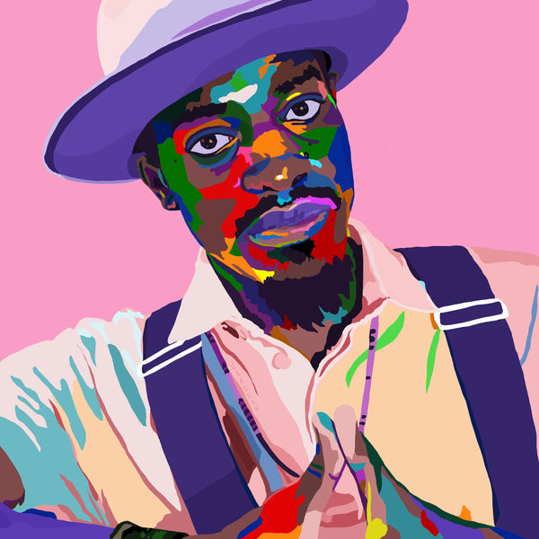Keep Your Heart 3Stacks - Andre 3000 portrait art - Limited Edition Art Print & Wall Decor - Vakseen Art