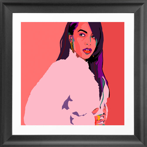 Vakseen Art - 1 In A Million - Aaliyah portrait art - Limited Edition Giclee Art Print & Wall Decor