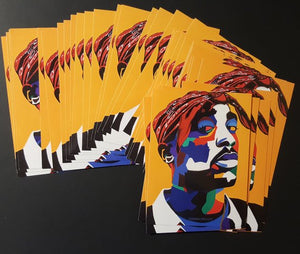 Vakseen Art - Chang3d Man -  2Pac Stickers - Custom Art Stickers for Laptops & Wall Decor