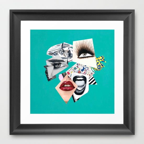 Abstract portrait Art - Vanity Pop - Collage Portrait - Limited Edition Giclee Art Print - Vakseen Art