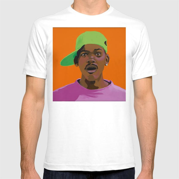 Fresh Prince of Bel Air portrait art - Fresh Prince Tee Shirt - Custom Art Shirt & Apparel - Vakseen Art