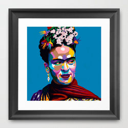 Frida Kahlo portrait art - Limited Edition Giclee Art Print & Wall Decor - Vakseen Art