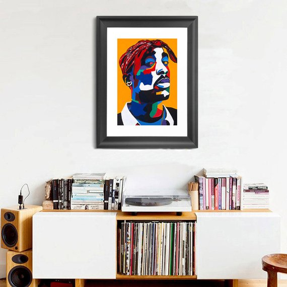 2pac Portrait Art - Limited Edition Giclee Art Print & Wall Decor - Vakseen Art