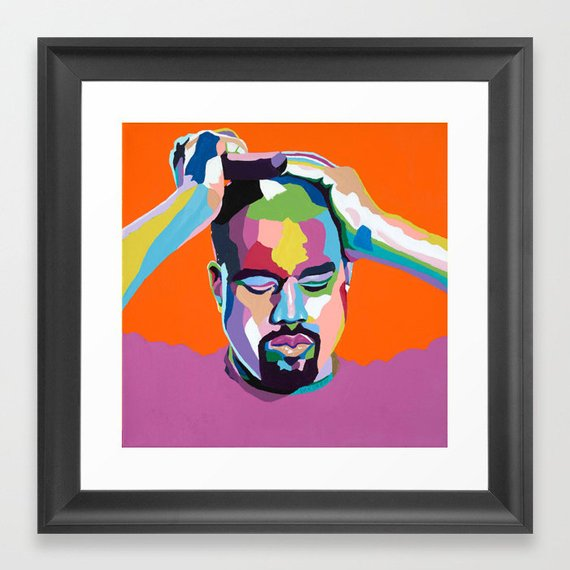 Kanye West portrait art - Limited Edition Giclee Print & Wall Decor - Vakseen Art