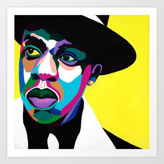 Jay Z portrait art - Limited Edition Giclee Print & Wall Decor - Vakseen Art