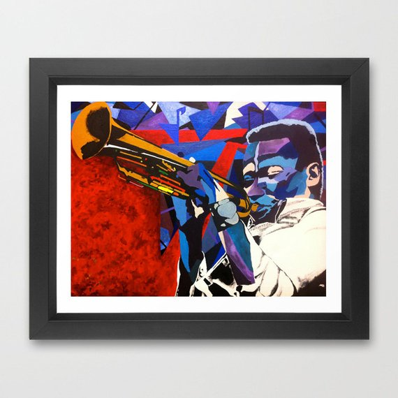 Miles Davis portrait - Limited Edition Giclee Print & Wall Decor - Vakseen Art