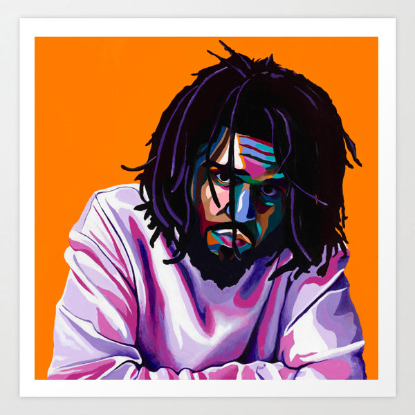 J. Cole portrait art - Limited Edition Giclee Art Prints & Wall Decor - Vakseen Art
