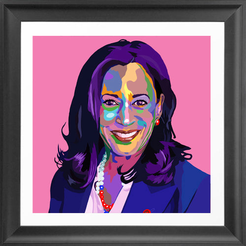 Madam Vice President - Kamala Harris portrait art - Limited Edition Art Print & Wall Decor - Vakseen Art