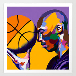 One With the Game - Kobe Bryant portrait art - Limited Edition Giclee Art Prints - Vakseen Art