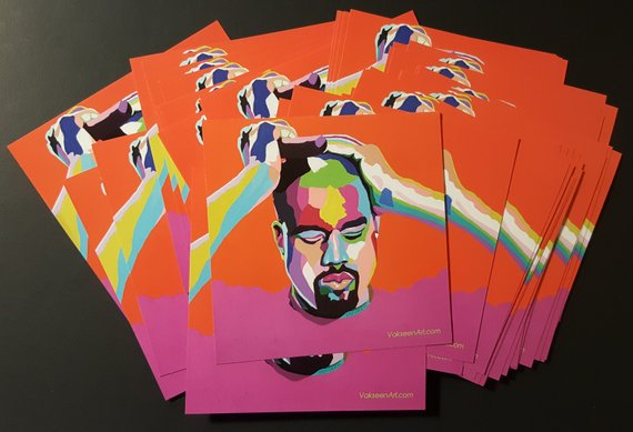 Vakseen Art - Mood...Kanye - Kanye West Stickers - Custom Art Stickers for Laptops & Wall Decor