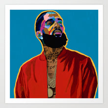 Load image into Gallery viewer, Vakseen Art - Nothin Like U - Limited Edition Nipsey Hussle Wall Art Prints for Wall Decor