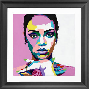 Vakseen Art - Love On The Brain - Rihanna portrait - Limited Edition Giclee Art Prints & Wall Decor