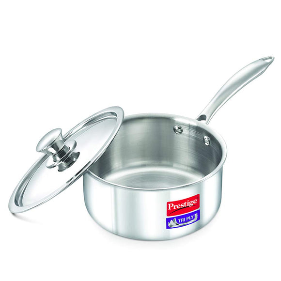 Prestige Tri Ply Sauce Pan 160 mm