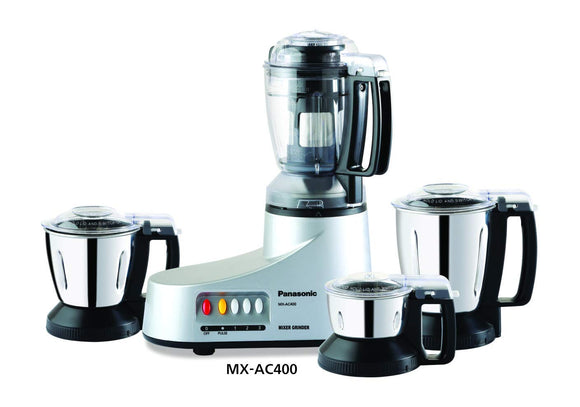 Panasonic MX-AC400 Silver -4-Jar Super Mixer Grinder 550W