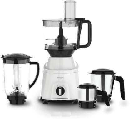 Philips Viva Collection HL7763 750W Mixer Grinder (White, 4 Jars)