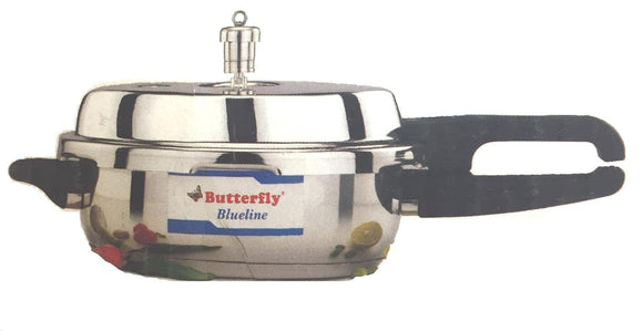 Butterfly BL-3.5L Blue Line Wider Stainless Steel Pressure Cooker, 3.5-Liter
