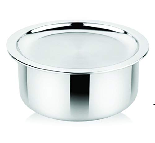 Prabha Tri Ply Stainless Steel Tope with Lid 1.6 Ltrs (16 cm)