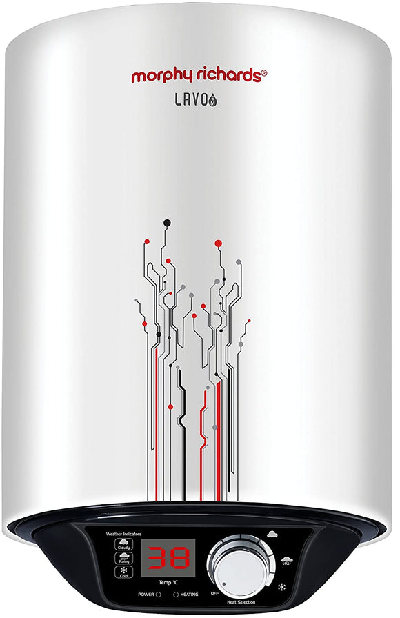 Morphy Richards Lavo EM Storage 6-Litre Vertical Water Heater, Silver, 5 Star