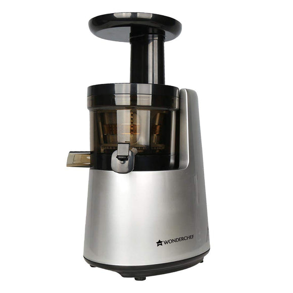 Wonderchef V6 200-Watt Cold Press Juicer (Black and Silver)