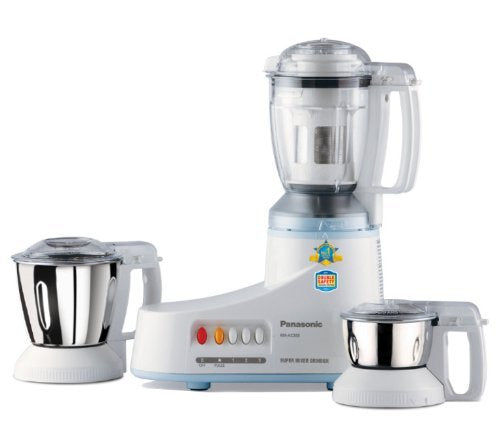 Panasonic MX-AC350-A (Blue) Super Mixer Grinder 550-Watt 3-Jar
