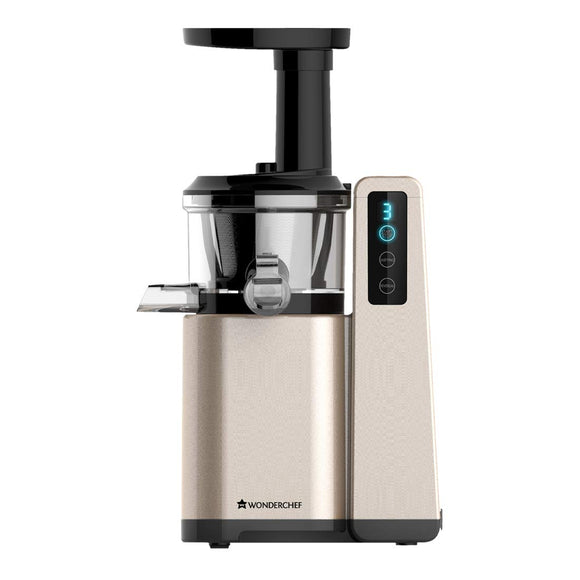 Wonderchef 63152044 230-Watt Cold Press Slow Digital Juicer (Golden)