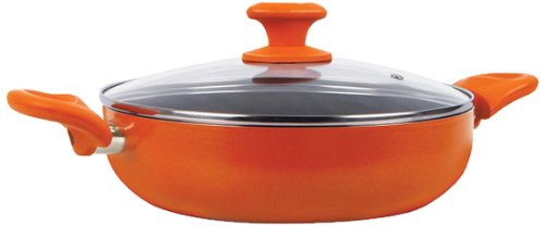 Prestige Ceramic Coated Curry with Glass Lid Pan 24 cm diameter (Aluminium, Non-stick)