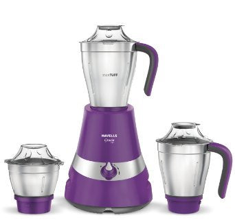 Havells Gracia 750-Watt Mixer Grinder with 3 Jars (Purple)