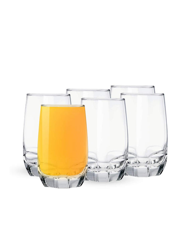 Ocean Charisma Hi Ball Glass Set, Set of 6, 415ml, Transparent