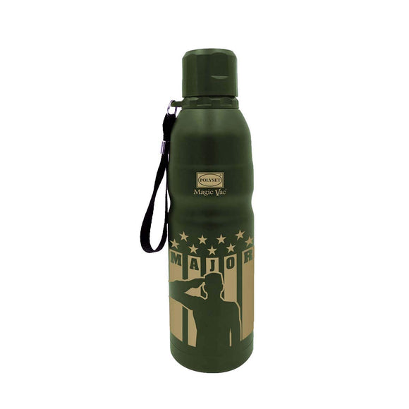 Polyset Major Stainless Steel Vaccum Bottle (Green, 500ml)