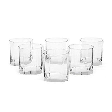 Ocean Pyramid Rock Glass, 260ml, Set of 6
