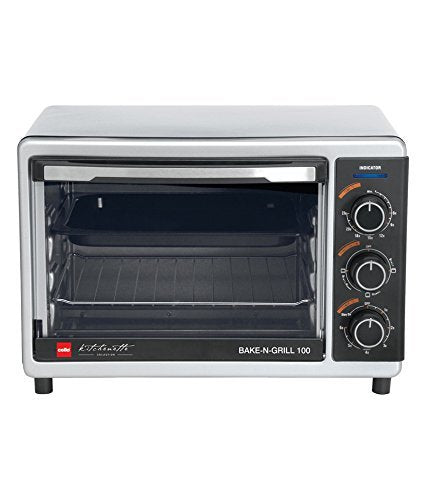 Cello Bake N Grill 100 1000-Watt Oven Toaster Griller (Stainless steel Black)