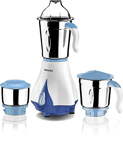 Philips Daily Collection HL7511 550-Watt Mixer Grinder with 3 Jars (Blueberry/Bright White)