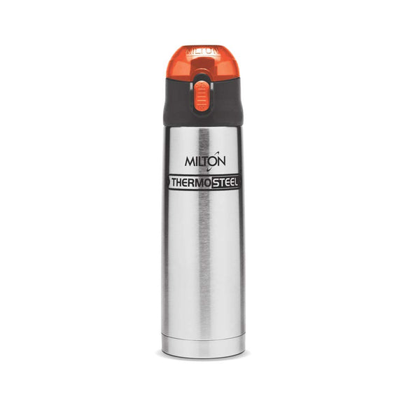 Milton Thermosteel Crown 600 Flask Silver (Cap color may vary)
