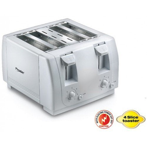 Prestige PPTPD Jumbo 1300-Watt 4-Slice Pop-up Toaster (White)