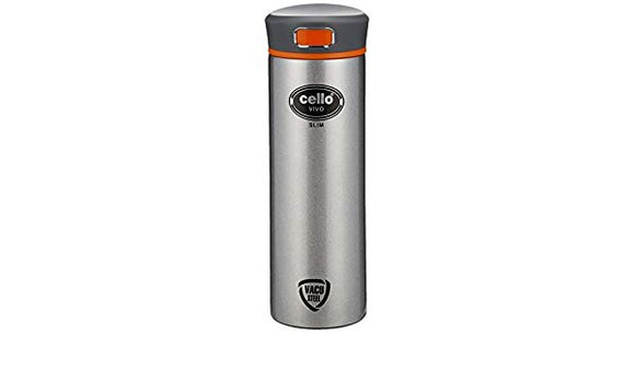 Cello VIVO Stainless Steel Flask, 400ml, Black