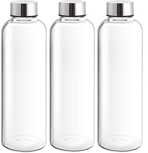 Treo by Milton Clarion Borosilicate Glass Water Bottle (3, 760)