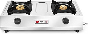 Pigeon by Stovekraft Maxima Stainless Steel 2 Burner Gas Stove, Silver