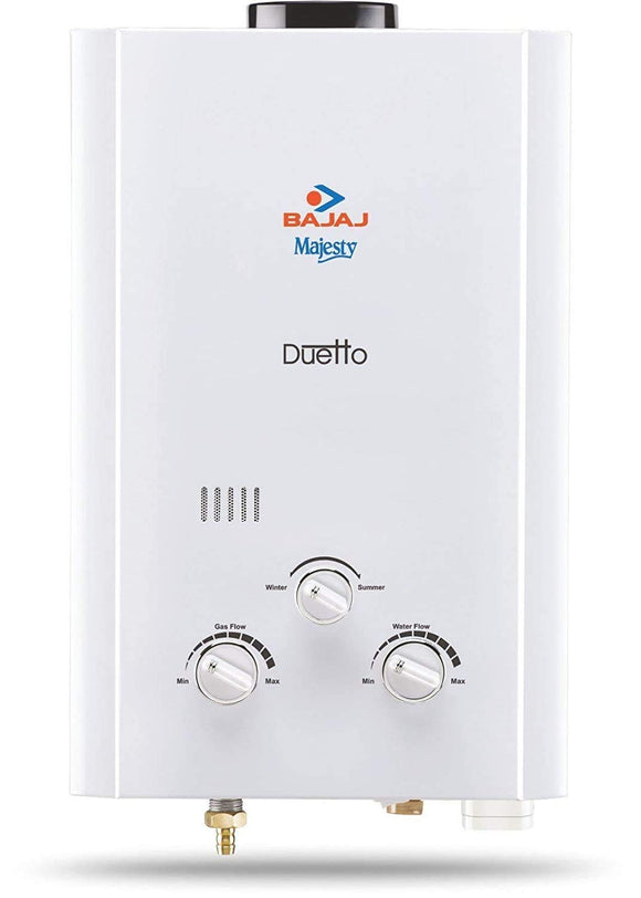 Bajaj Majesty Duetto Gas LPG Water Heater (White)