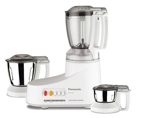 Panasonic AC MX-AC300-H 550-Watt Mixer Grinder with 3 Jars (Grey)