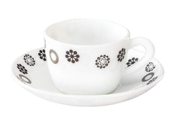 Larah by BOROSIL Glass Cup And Saucer Set - 12 Pieces, 140 ml
