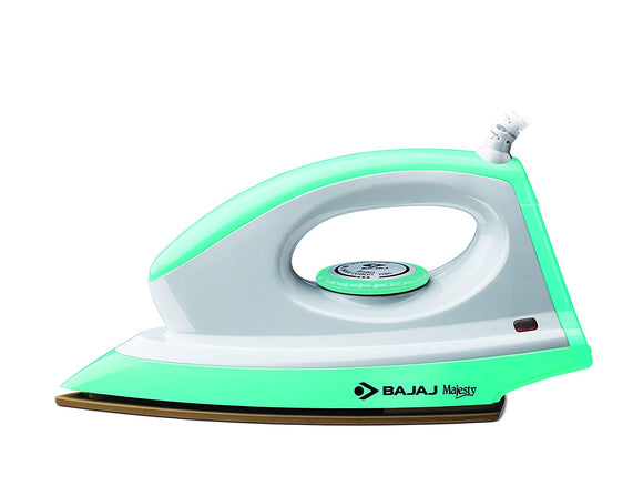 Bajaj Majesty Canvas 1000-Watt Dry Iron (Green)