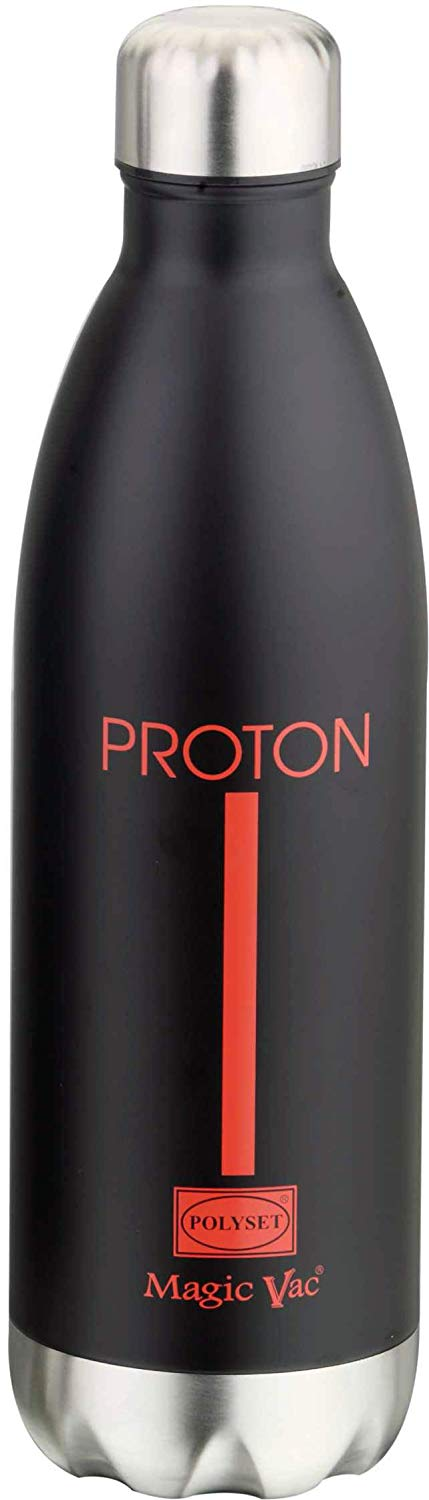 Polyset Proton Vaccum Insulated Water Bottle (Black Red, 1000ml)