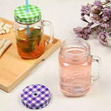 Kitchenbuff 6pc Mason Jar with straw Set of 6