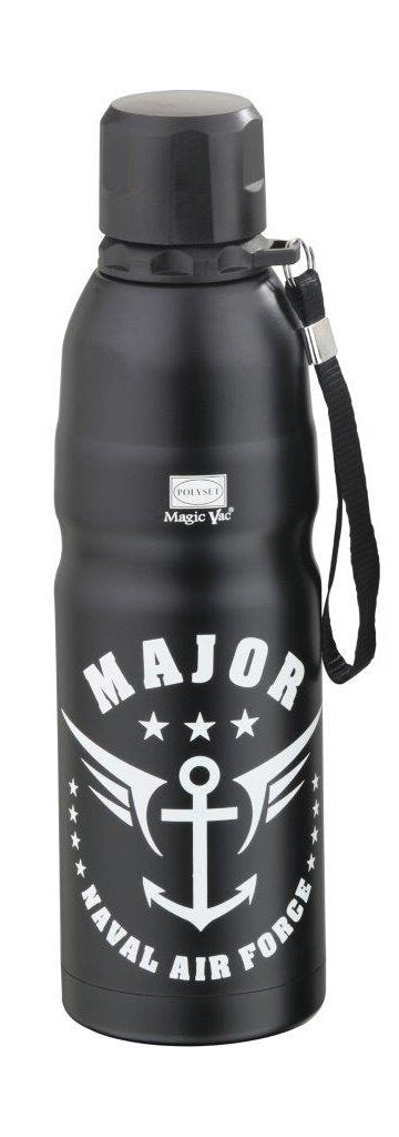 Polyset Hot and Cold Major Premium Vacuum Flask 750 ml Water Bottle (Black)